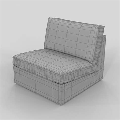 kivik armchair armchair ikea kivik 3d model max cgtrader com