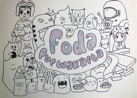 buat doodle name kumpulan gambar doodle yang keren dan mudah di tiru
