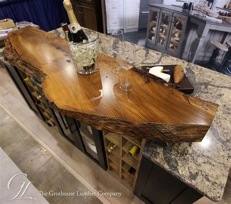 Custom Coffee Tables by Live Edge Wood Countertop Of English Wych Elm In Medina Ohio