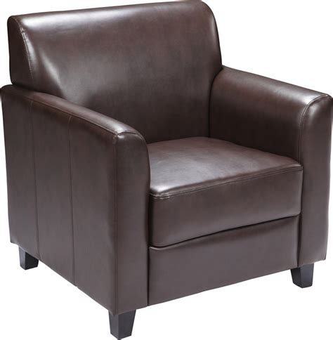 Brown Leather Lounge Chair by Soft Brown Leather Commercial Lounge Chair Ships In