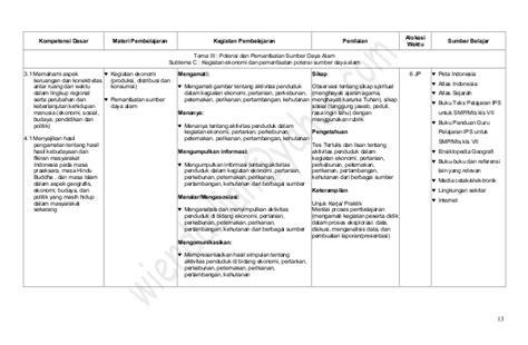 Ips Ekonomi Smp Mts Kls Viii K13n silabus ips smp kelas 7 kurikulum 2013