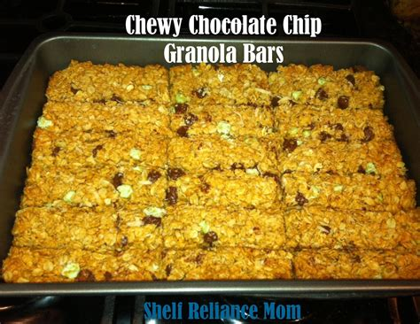 Shelf Of Granola Bars by Shelf Reliance Chewy Chocolate Chip Granola Bars