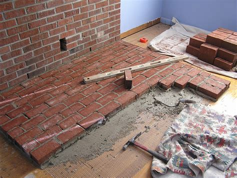 Fireplace Hearth Construction by Construction Of The Brick Hearth For Free Standing Wood