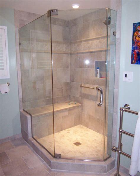 Angled Shower Door Neo Angle Shower Door Dreamline Encore 56in To 60in Frameless Brushed Nickel Sliding Shower