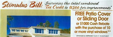 stimulus bill 1 500 tax credit for home improvements
