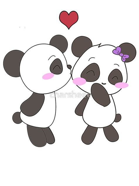 Couple Kiss Wall Stickers quot panda love apparel quot stickers by charsheee redbubble