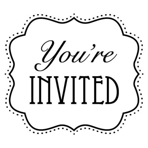Clip Art Invitation Cliparts Co You Re Invited Template Word
