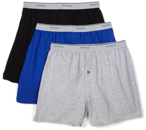 fruit of the loom 3 pack plus size knit boxer