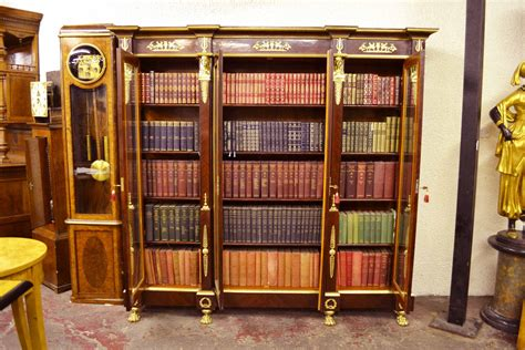 7 Ft Bookcase Regent Antiques Bookcases Large Empire Style Mahogany
