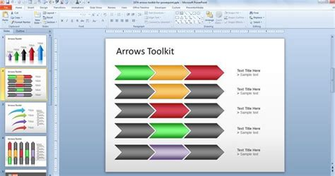 powerpoint chevron template free arrows toolkit for powerpoint presentations free