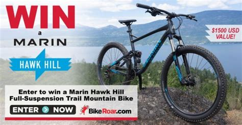 Mountain Bike Sweepstakes 2017 - win marin hawk hill mountain bike giveaway august 2017 giveawaytoday