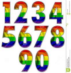 rainbow flag numbers royalty free stock photo image