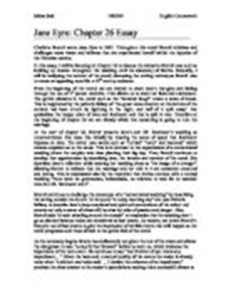 analysis jane eyre chapter 2 jane eyre textual analysis of chapter 26 gcse english