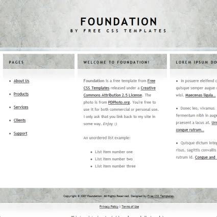 foundation free website templates in css html js format