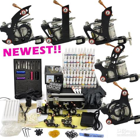 pro tattoo kits professional kit 5 top machine guns ink pigment