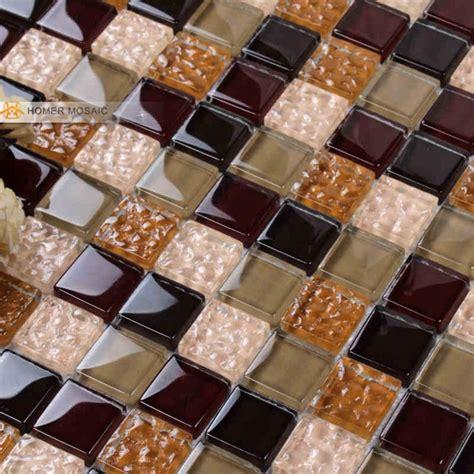 crystal glass mosaic tiles hmb  kitchen backsplash bathroom wall tile  floor