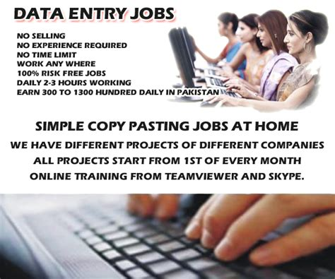 Simple Online Jobs Work From Home - makepakmoney com offering data entry jobs in pakistan at