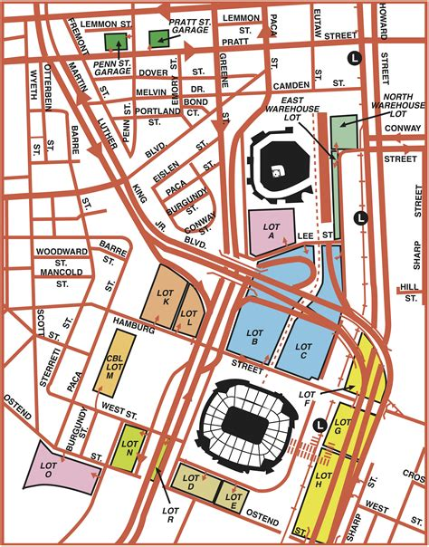 Parking Garages Near Camden Yards camden yards parking guide maps tips deals spg