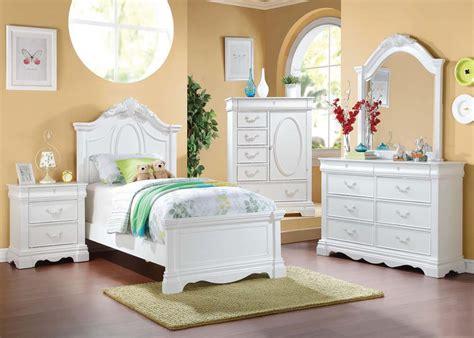 acme furniture bedroom set in white ac01660tset acme estrella white youth bedroom set