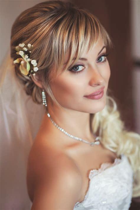 Hochzeit Frisuren Mit Pony by 55 Brautfrisuren Stilvolle Haarstyling Ideen F 252 R Lange Haare