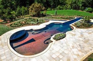 Swimming pool swimming pool close up kidney shaped inground swimming
