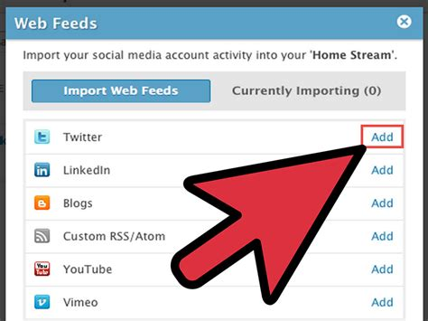 how to add rss and web feeds to socialcast 3 steps