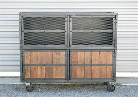 Industrial Style Bar Cabinet Combine 9 Industrial Furniture Bar Cart Liquor Cabinet Reclaimed Wood And Steel The Chaser