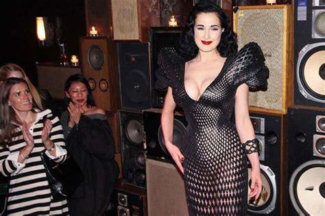 Dress Printing Dhita 3d printed dress of dita teese 12 pics