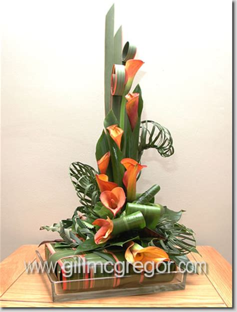 flower arrangement techniques leaf manipulation contemporary flower arranger
