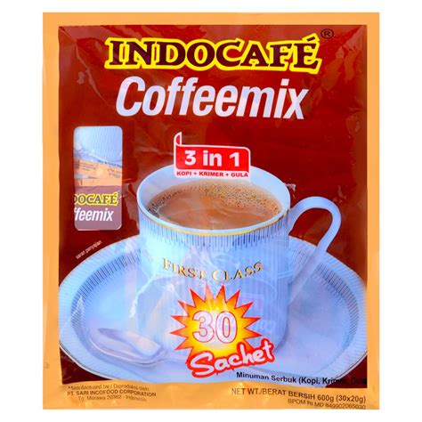 jual indocafe coffee mix bag 30x20gr kopi instant 30 sachet 20 gram indoalfa