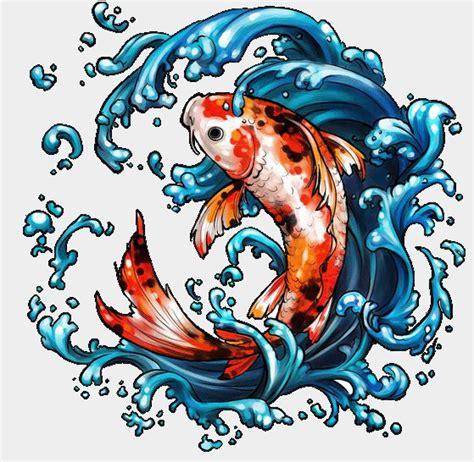 tattoo ikan koi 3d gambar ikan koi animasi bergerak gambar animasi ikan koi