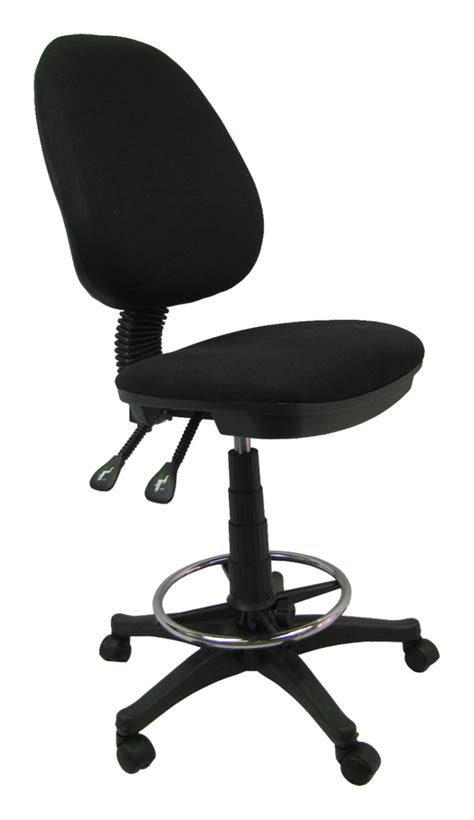 Ergonomic Work Stool by Office Work Adjustable Black Drafting Chair Stool School Ergonomic Footrest Ebay
