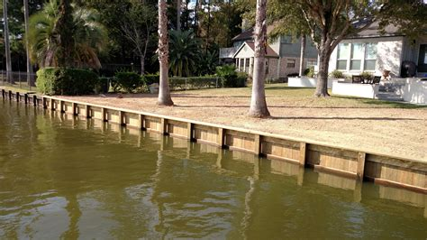 lake conroe boat hire new and replacement bulkhead construction lake houston