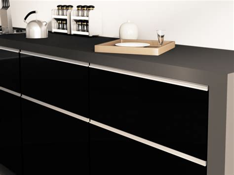 Stainless Steel Kitchen Cabinet Handles by High Gloss Matte Lacquered Cabinet Doors 171 Aluminum