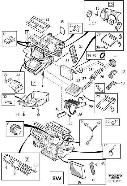 30733901 - Hvac blend door actuator. Cam disc - Genuine