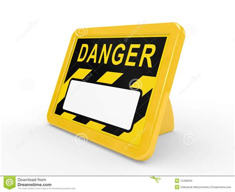 danger white the tablet danger on a white background royalty free stock