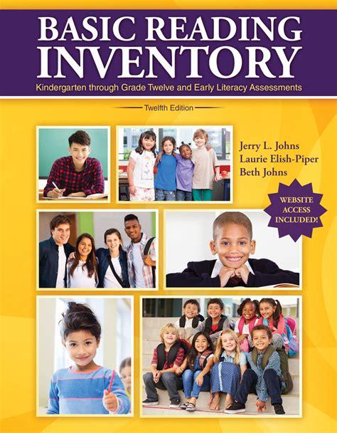 basic reading inventory kindergarten through grade twelve