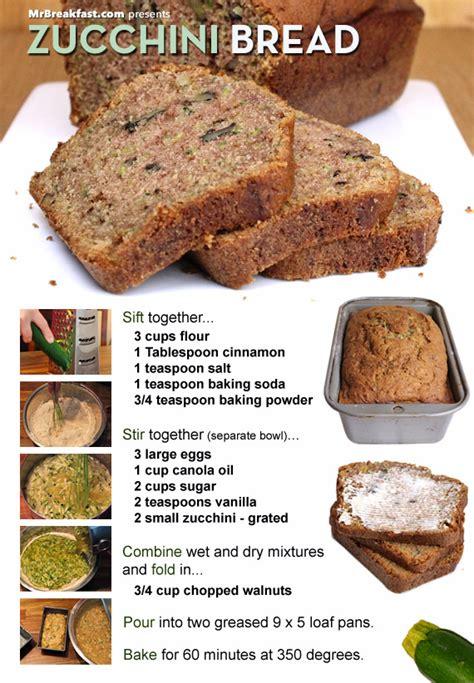how to make great zucchini bread team breakfast