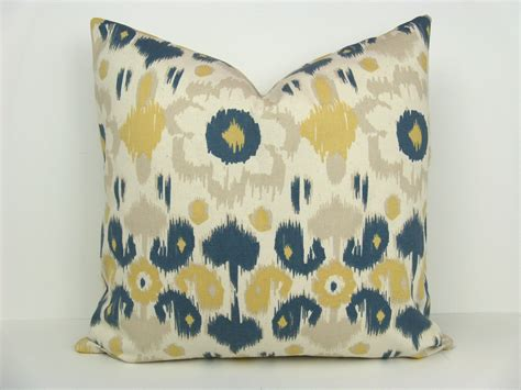 Yellow And Blue Decorative Pillows by Unavailable Listing On Etsy