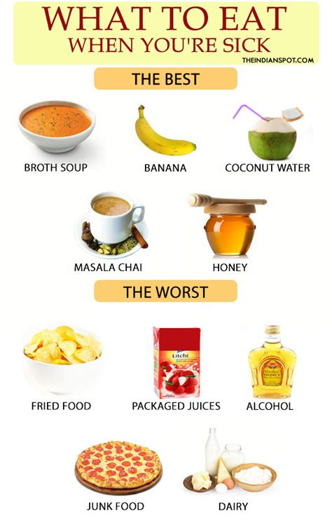 what are the best foods to eat best and worst foods to eat when you are sick theindianspot
