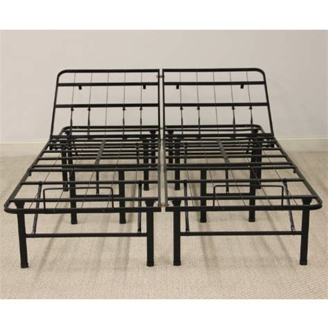 Classic Brands Adjustable Heavy Duty Metal Bed Frame Metal Bed Frame Box