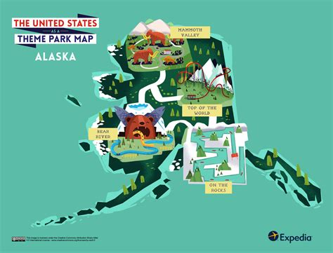 theme park usa map outdoor adventure a theme park map of the united states
