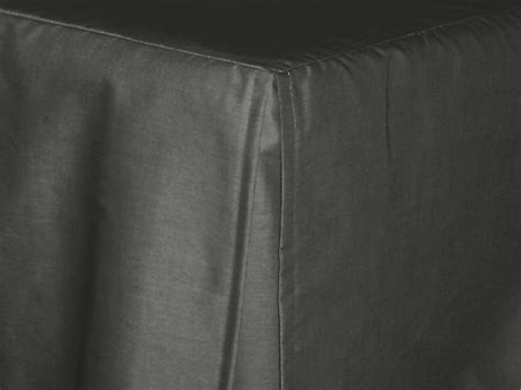 Charcoal Gray Tailored Bedskirt (for cribs and daybeds and