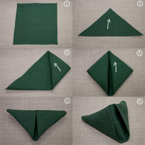 Easy Napkin Origami - napkin folding future mrs fix