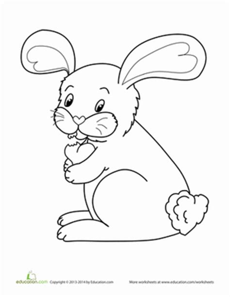 valentine bunny coloring page valentine s day bunny worksheet education com