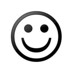 black and white smiley face happy face faces icon clipart panda free clipart