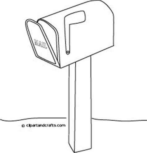 coloring pages of letter box baa is for bareed mail بريد post box mailbox coloring