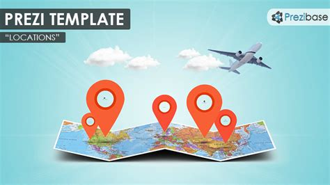 presentation templates for tourism prezi template with a 3d folded world map clouds map