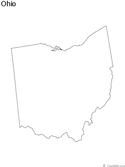 Outline Of Ohio Vector by Ohio Outline Png