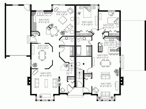 triplex home plans triplex designs inspiration house plans 58158